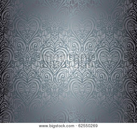 Silver luxury vintage seamless background design