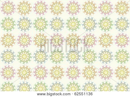 Tangle Ball Pattern On Pastel Color