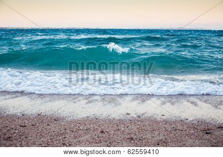 Big Waves On The Seacoast Of The Red Sea