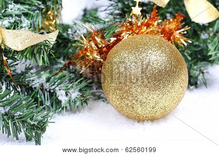 Christmas Ball On Firtree Branch