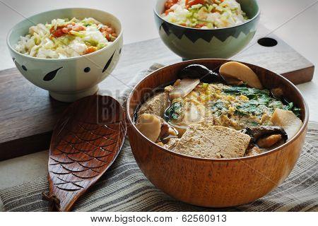 Frozen Tofu Soup & Tofu Mentaiko Donburi