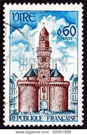 Postage Stamp France 1967 Clock Tower, Vire
