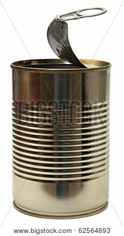 Tin Can, Isolated On White Background.