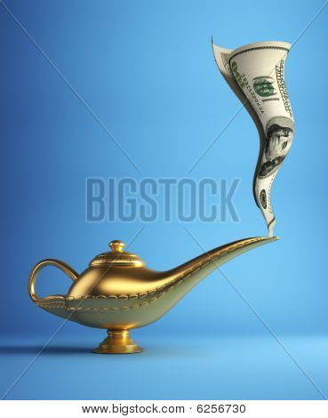Magic Lamp With Money
