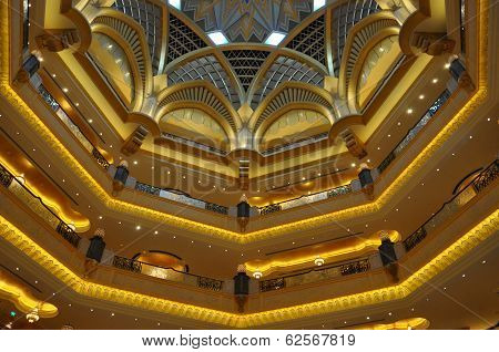 Interior of Emirates Palace Hotel in Abu Dhabi, UAE