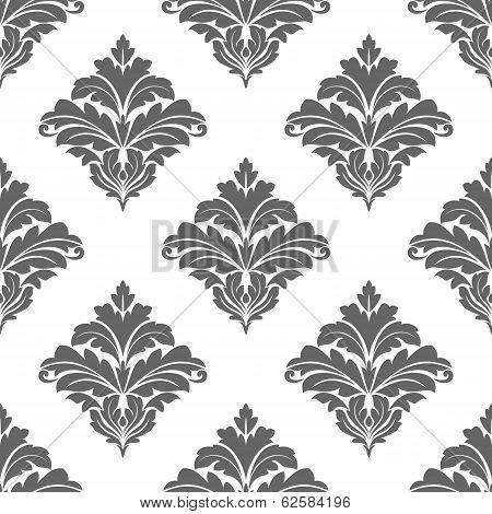 Grey seamless floral pattern