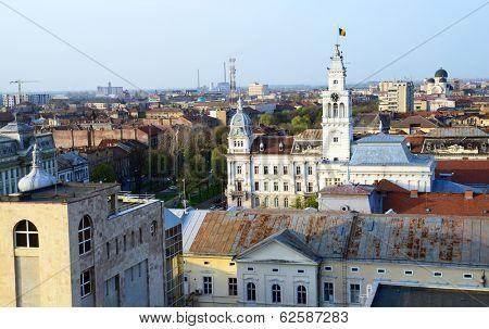 Aerial view of Arad, Romania, Europe
