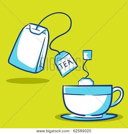 Tea Bag And Tea Cup
