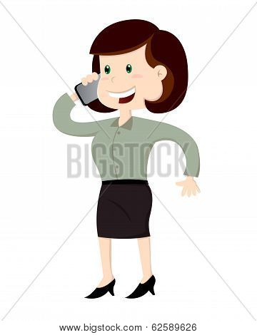 Business woman caling on the phone