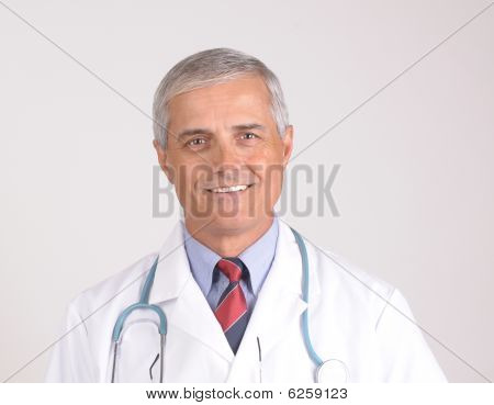 Portrait Of Smiling Middle Aged Doctor