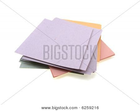 Pile Of Multi-coloured Office Paper