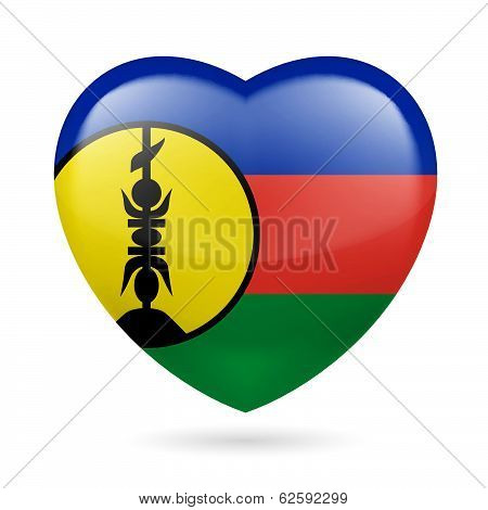 Heart icon of New Caledonia