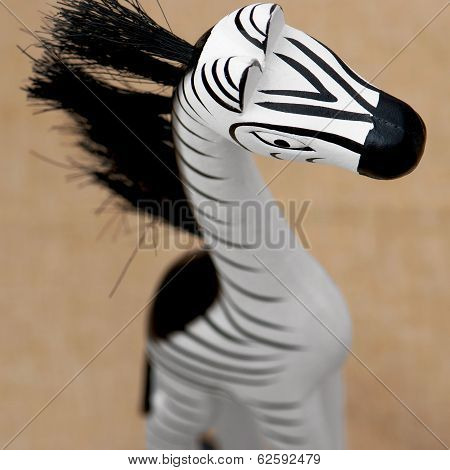 Decorative Wooden Zebra