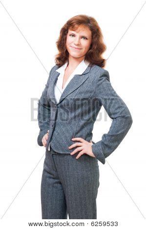 positive selbstsicher Bussiness Frau