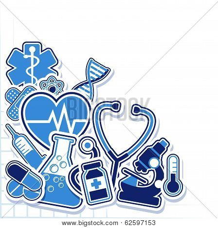 Medical design elements vector
