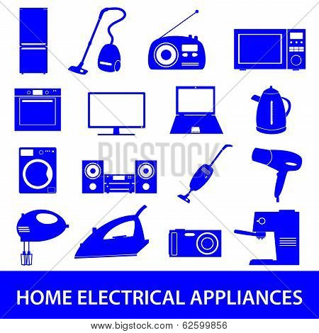 home electrical appliances set eps10