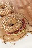 image of bagel  - Delicious bagel eating - JPG