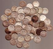 Old Horde Of Coins Australian Currency Threepences Pre 1960 Silv