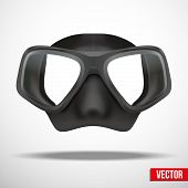 image of rubber mask  - Underwater diving scuba mask - JPG