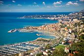 pic of suburban city  - Panoramic view on Sanremo - JPG