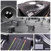 stock photo of lp  - Dj tools collage - JPG