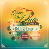 Wedding invitation card with abstract design elements. Vector il