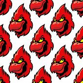 picture of cardinal-bird  - Cardinal bird seamless pattern background in cartoon style - JPG