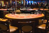 Gaming Tables In The Lobby Of Casino Treasure Island, Las Vegas
