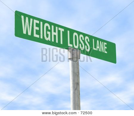 Diet Themed Street Sign