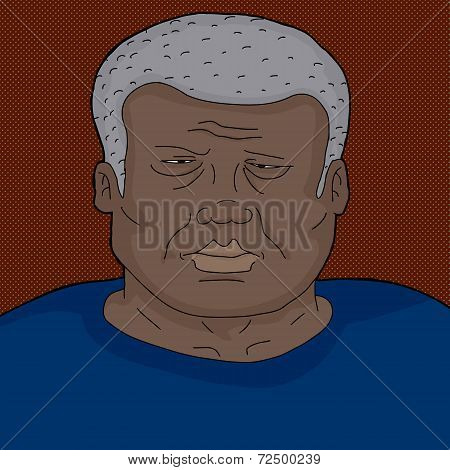 Frowning Mature Black Man