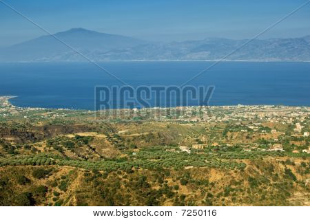 Etna Visible From Aspromonte