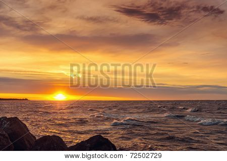 Ocean Coast At Sunrise