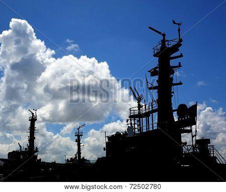 Tug Boat Silhouettes