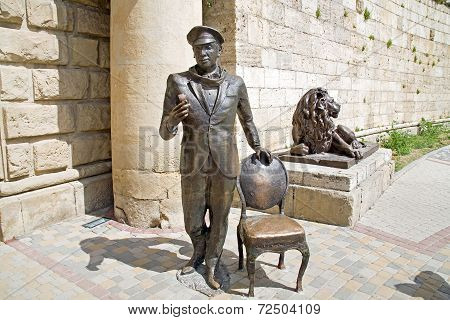 Sculpture Of Literary Personage Ostap Bender