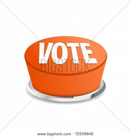 Time To Vote Button Sign Template