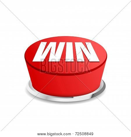 Time To Win Button Sign Template