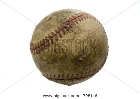 Isolated Aged Baseball