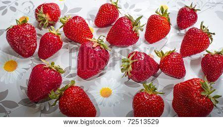 Berries Ripe Strawberries.