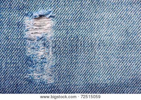 Torn Old Blue Jeans Background