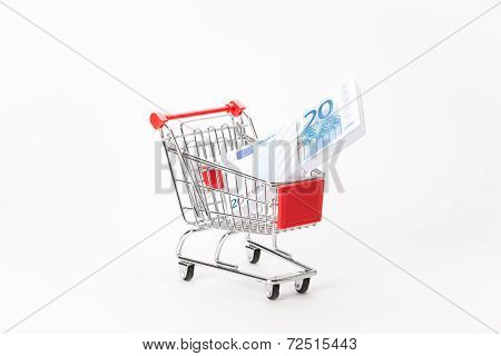 Caddy For Shopping With Money Stack