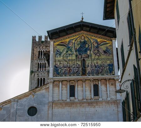 Mosaic Facade On Lucca