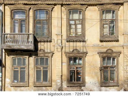 Fassade des alten Holzhaus