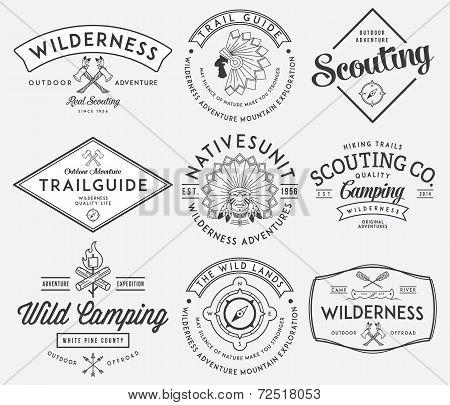 Outdoor Scouting Black On White