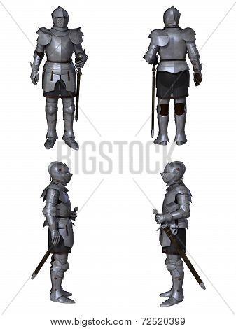 Medieval Knight Fantasy Character Set (Milanese)