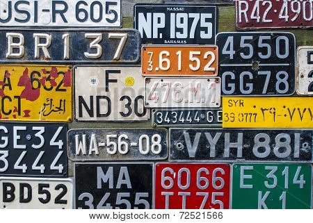 Colorful License Plates