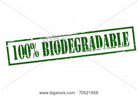 One Hundred Percent Biodegradable
