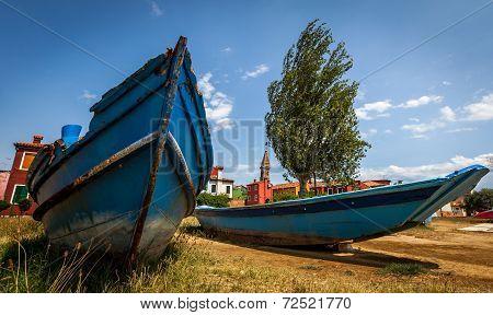Fishermens Boat On Murano Island