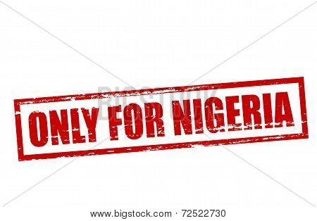 Only For Nigeria