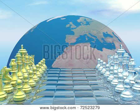 Global strategy - 3D render
