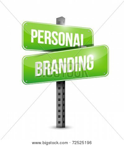Personal Branding Street Sign Illustration Design